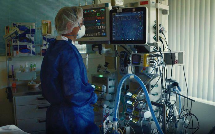 Beeld vanaf de ic van Meander MC, zoals te zien was in de documentaire Levenslucht.