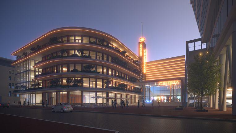 Filmliefhebbers kunnen naar verwachting vanaf begin 2023 een bezoek brengen aan de bioscoop in de Houthavens  Beeld Heren2