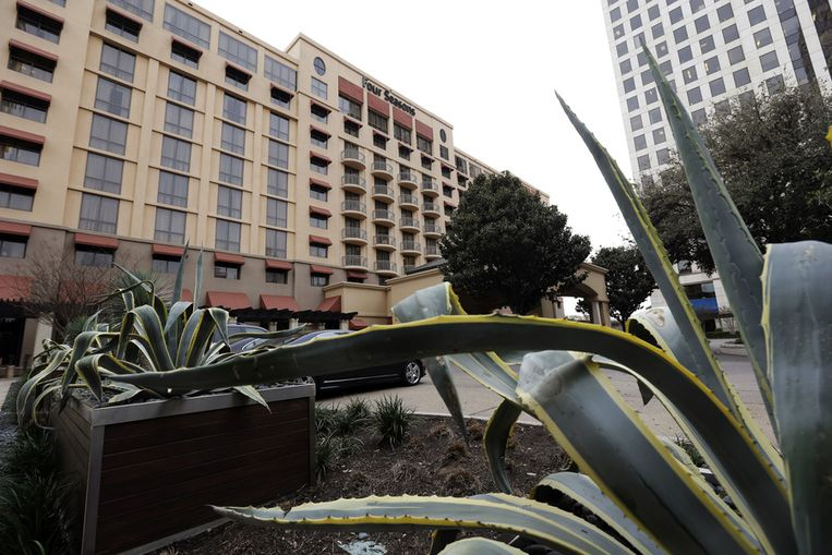 Het Four Seasons-hotel in Austin (Texas), waar het vraaggesprek tussen Oprah Winfrey en Lance Armstrong maandag werd opgenomen. Beeld ap