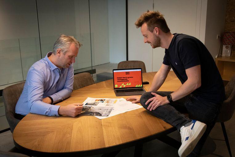 CEO Tom Herrijgers en COO Tim Berghmans van Marbles Antwerpen. Beeld Marbles