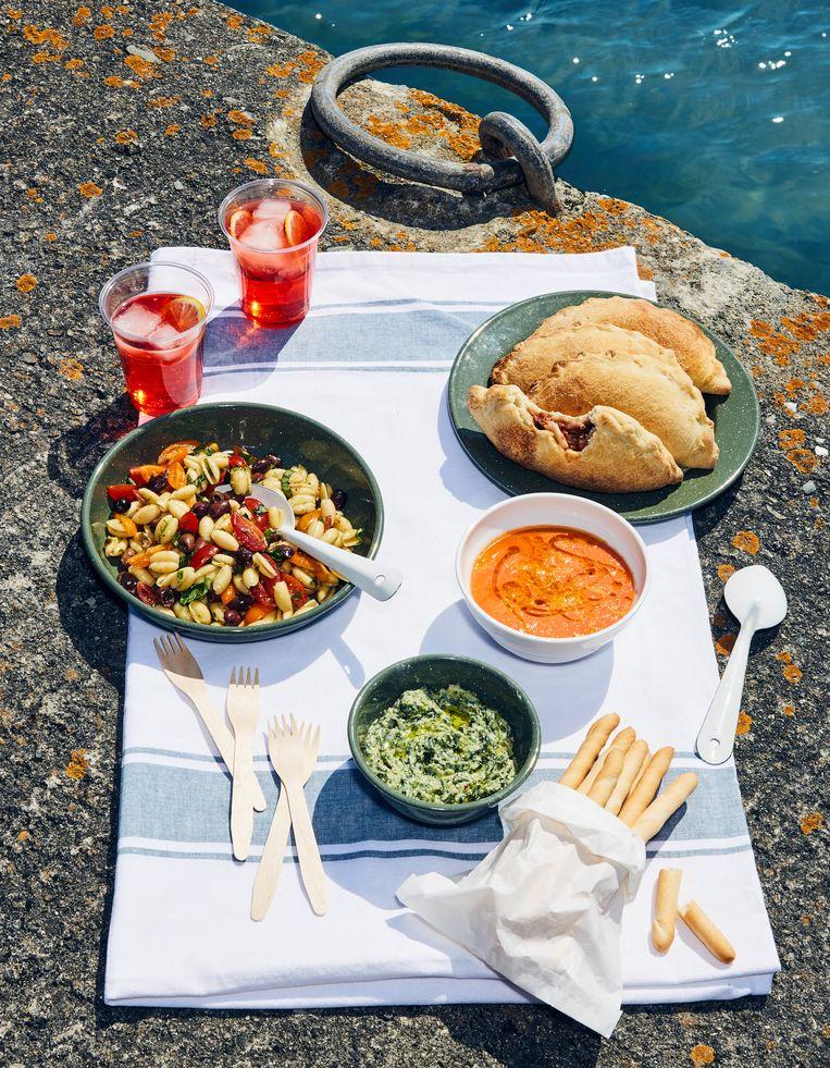 Italiaans picknick van Yvette van Boven Beeld Oof Verschuren