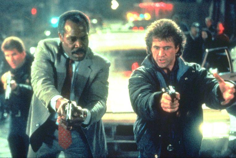 1989-01-01 00:00:00 LETHAL WEAPON 2 Mel Gibson, Danny Glover Fee Payable to Kippa ALLEEN VOOR REDACTIONEEL GEBRUIK. Beeld ANP Kippa