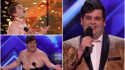 Erotische danser stript voor Simon Cowell en drukt zélf op Golden Buzzer in 'America's Got Talent'