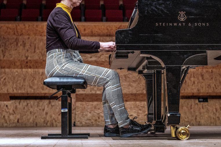 Een deelneemster van Pianofest. Beeld Patrick Post