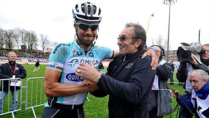 Tom Boonen met Gilbert Duclos-Lassalle.