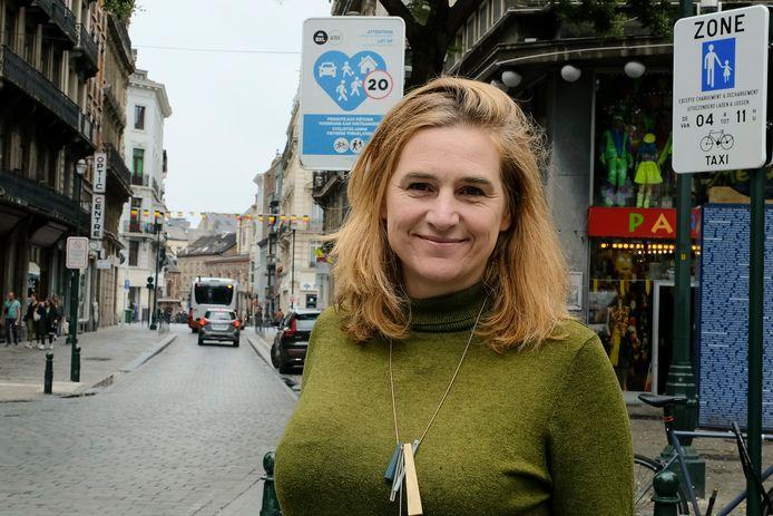 """Pour Elke Van den Brandt, il y a beaucoup de potentiel à Bruxelles. """"Rendre les rues plus sûres, plus conviviales et plus vertes est possible."""""""