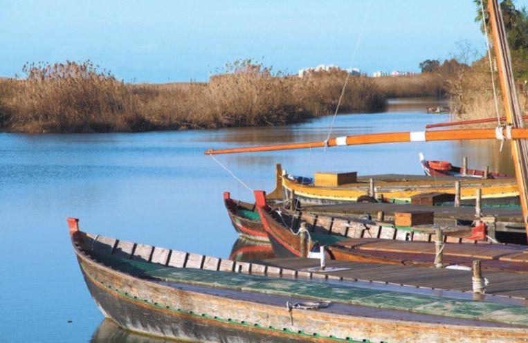 Nationaal Park L'Albufera ligt op nauwelijks 20 km van Valencia.