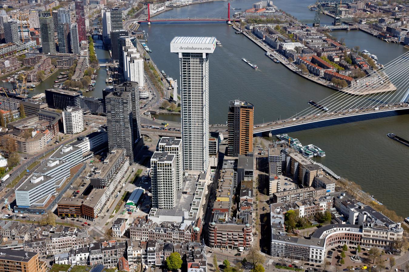 De Zalmhaventoren wordt de hoogste woontoren van de Benelux.
