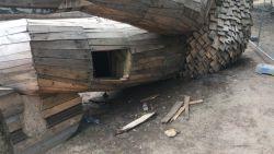 Vandalen houden lelijk huis aan uitkijktoren in De Schorre