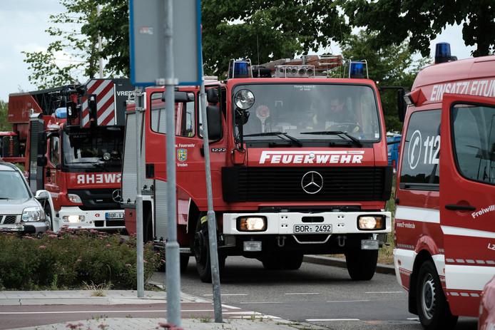 De Duitse brandweer kwam vorig jaar naar Winterswijk voor een oefening met de Nederlandse collega's.