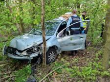 Beschonken bestuurder rijdt boom om naast afrit A18 en gaat op de vlucht
