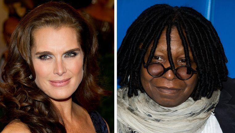 Brooke Shields en Whoopi Goldberg steunen de Democratische burgemeesterskandidate Christine Quinn. Beeld ap