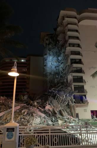 Groot appartementencomplex deels ingestort in Miami: minstens één dode, zoektocht naar mensen onder puin gaat verder