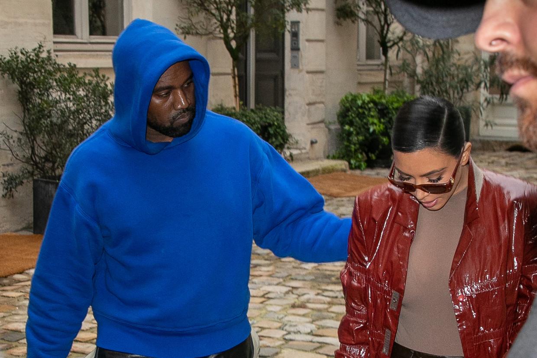 Kanye West en Kim Kardashian Beeld GC Images