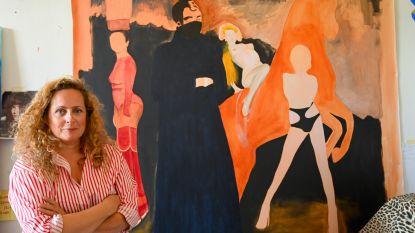 """""""Waarom geen meisjes als Vier Heemskinderen op Ros Beiaard?"""": Kunstenares Nathalie Pien trekt de discussie open... en maakt kunstwerk van Ros met vrouwelijk schoon"""