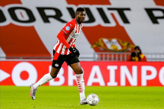 Ibrahim Sangaré in het shirt van PSV. De Ivoriaan lijkt ook tegen FC Utrecht te spelen en is een van de speerpunten voor komend seizoen.