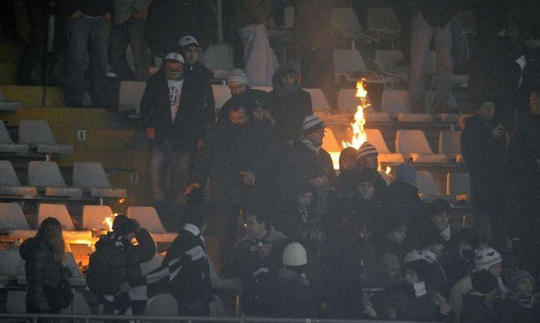 De fans van Juventus laten hun ongenoegen blijken. Beeld UNKNOWN