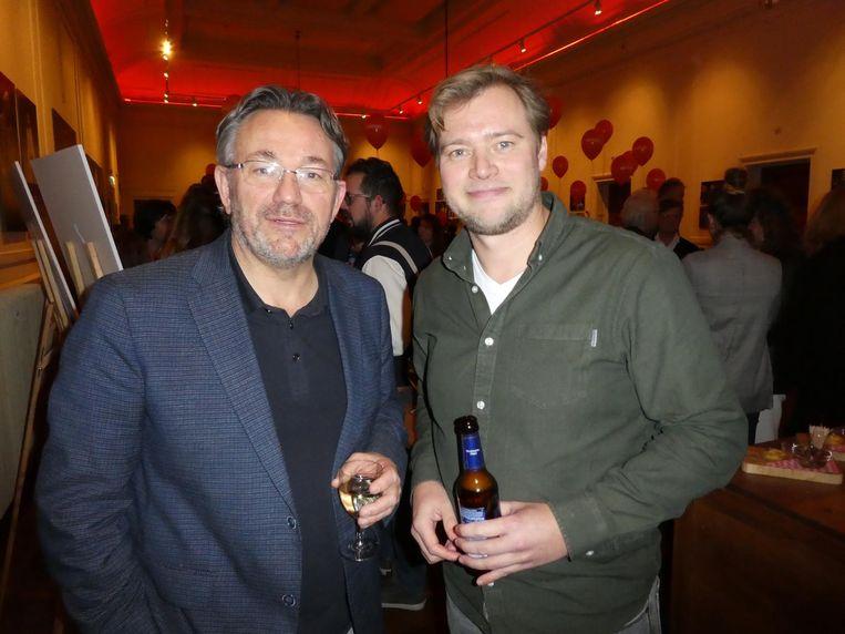 Dagvoorzitter Wouter Kurpershoek en Maarten Spaans (Issuemakers). Beeld Schuim