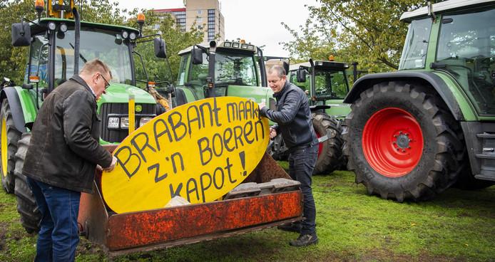 Protest voor het provinciehuis in Den Bosch.