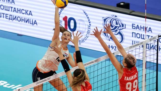 Volleybalsters redden het niet tegen Turkije en grijpen naast het brons