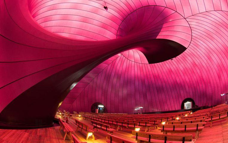 De Ark Nova van binnenuit Beeld  lucerne festival arknova 2013