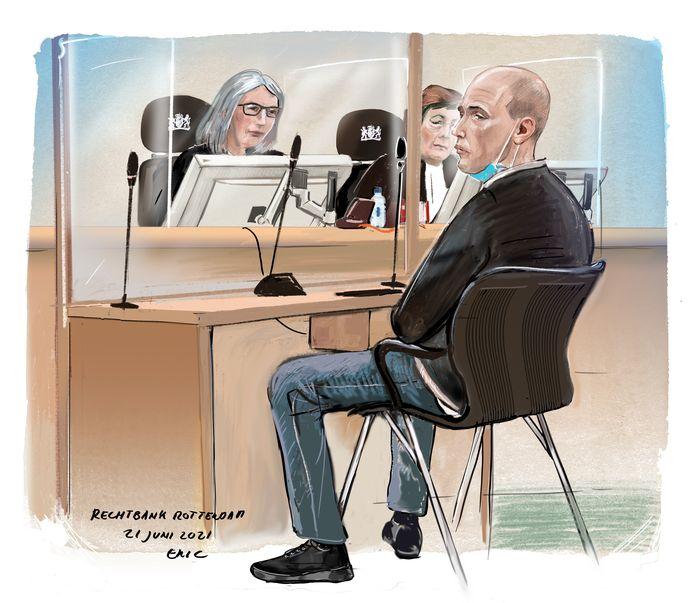 Verdachte Kamil C. gaat als het aan het Openbaar Ministerie achttien jaar de gevangenis in.