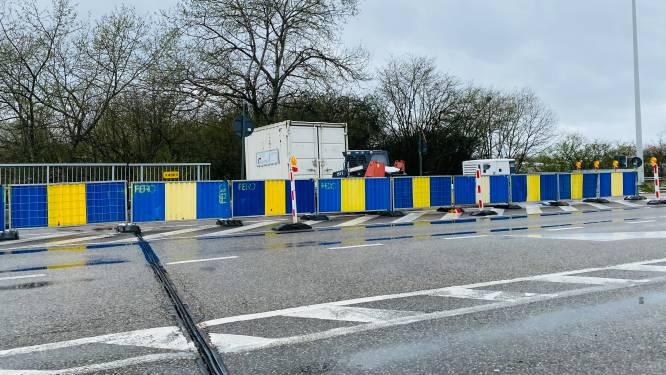 Op- en afrittencomplex wordt pas volgende week afgesloten: weersomstandigheden weer spelbreker