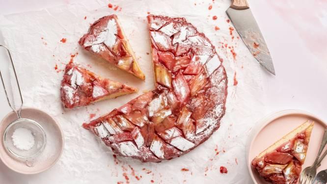 Wat Eten We Vandaag: Upside-down rabarbercake