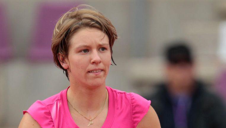 An-Sophie Mestach gnig met 6-4 en 6-2 de boot in tegen Kovinic. Beeld BELGA
