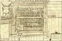 Op de oude kaart van de Nederlandse cartograaf  Blaeu uit 1648 is dit stukje stadsmuur en de toren nog te zien.