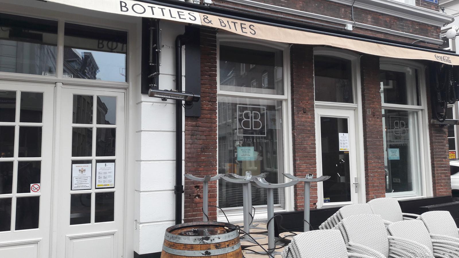Bottles & Bites in de Korenbrugstraat is eigendom van de Bosschenaar die woensdag is aangehouden en donderdag nog was opgesloten.