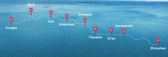 De Chinese Zijderoute is meer dan 5000 kilometer lang.