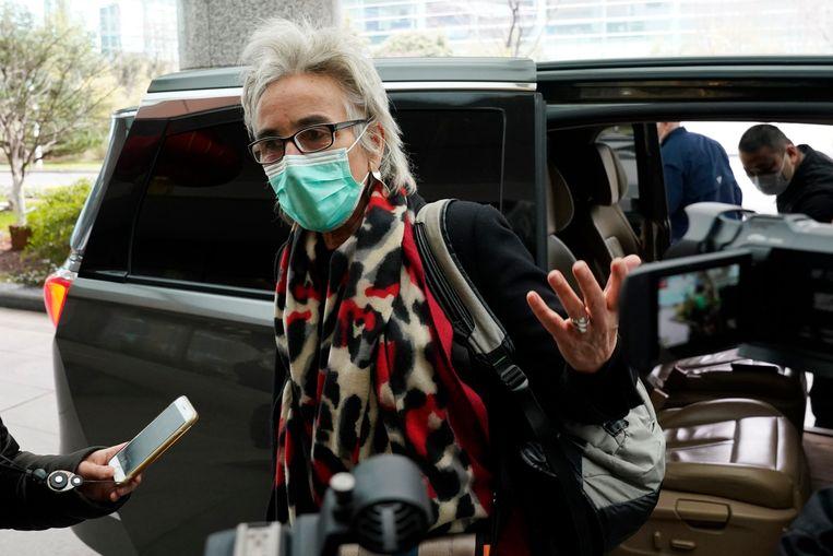 De Nederlandse virologe Marion Koopmans was mee met de WHO voor het onderzoek in China. Beeld AP