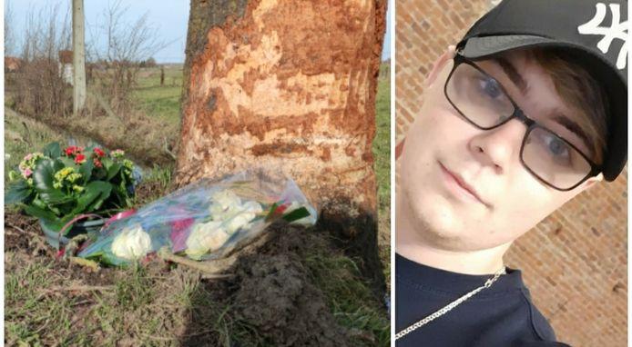 De amper 21-jarige Jordy Buysschaert overleede een klap tegen een boom na een inhaalmenoeuvre niet