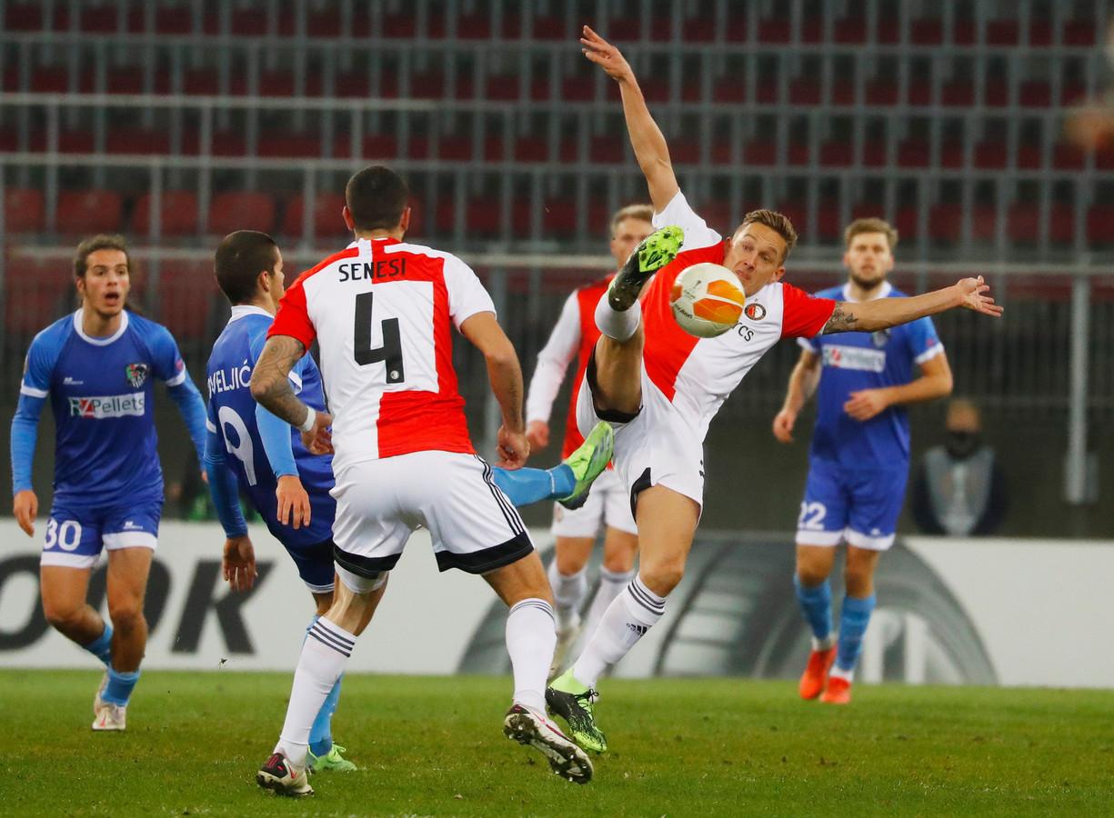 Feyenoord kwam afgelopen seizoen uit in de Europa League, waarin het onder meer het Oostenrijkse Wolfsberger trof.