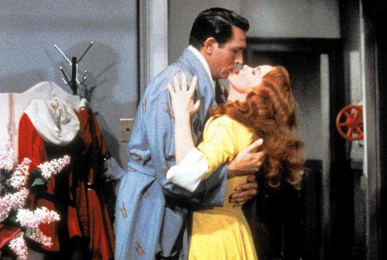 Howard Keel en Kathryn Grayson in 'Kiss Me Kate' van George Sidney. Beeld