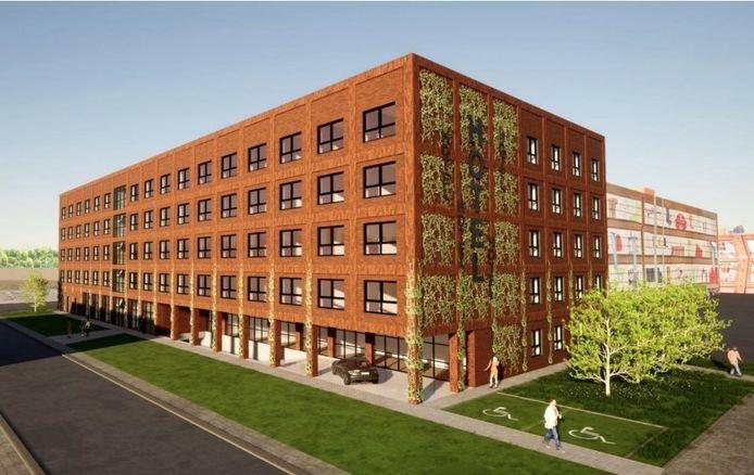 De projectontwikkelaar diende een aanvraag in om dit hotel naast de Weba te bouwen.