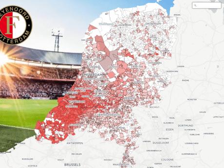Zo hard juicht deze regio voor een kampioenschap van Feyenoord