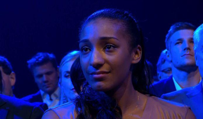 Een emotionele Nafi Thiam volgt zichzelf op als Sportvrouw van het Jaar.