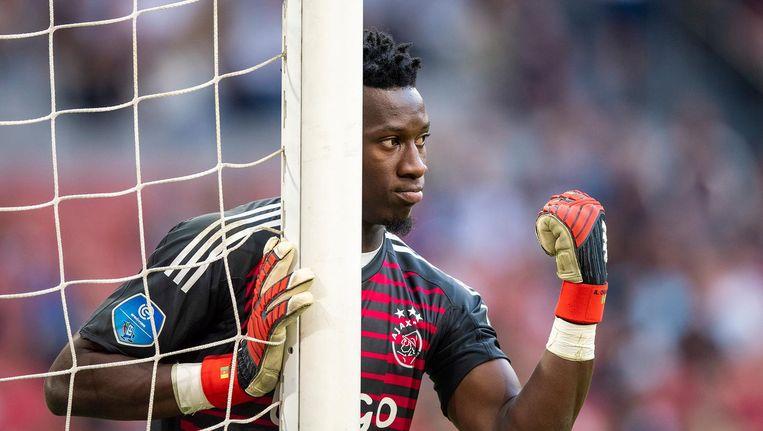 Andre Onana: 'Ik heb geleerd de wedstrijd te lezen. Ik denk niet: hoe moet ik goed spelen, maar: hoe kunnen we winnen.' Beeld Jasper Ruhe/Pro Shots