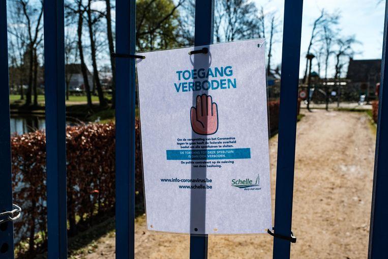 Het park is afgesloten.
