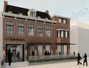 Het hotel Mr. Simons dat in de Voorstraat komt.