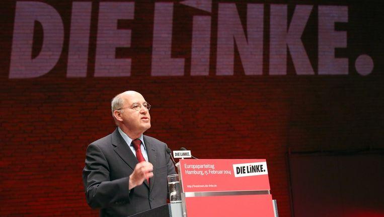 Partijleden van Die Linke geeft het extra aan salaris aan een goed doel. Beeld epa