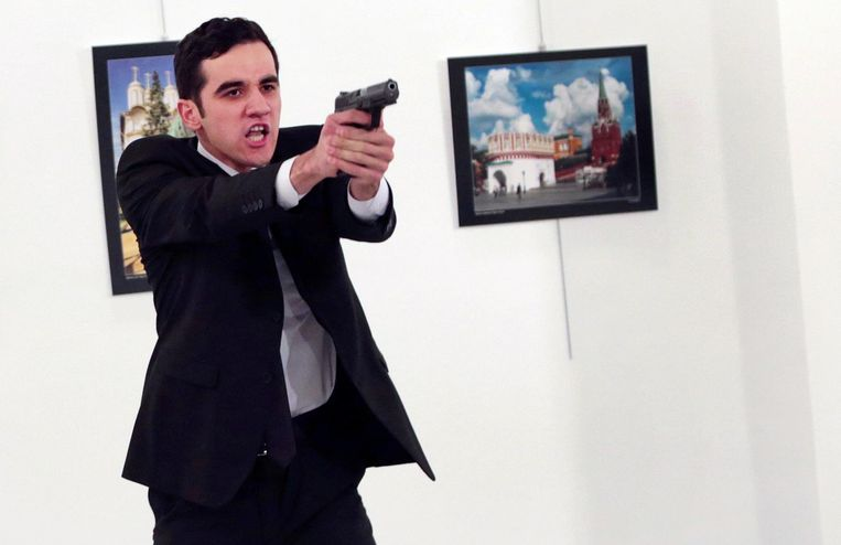 The shooter who shot Ambassador Andre Carlo.  Image ap