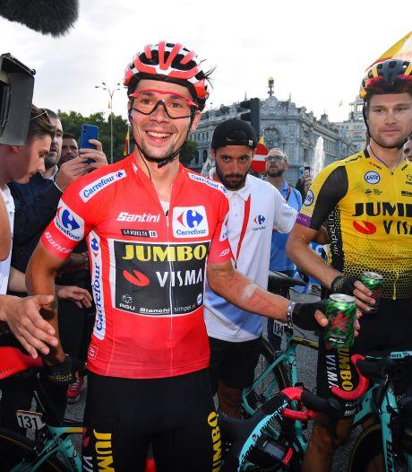 Fotoserie: vreugde bij Roglic en Jakobsen na finish in Madrid