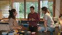 Ellen Verest (Nora), Kristof Goffin (Alex) en Kim Van Oncen (Saartje) in de serie 'Dertigers'