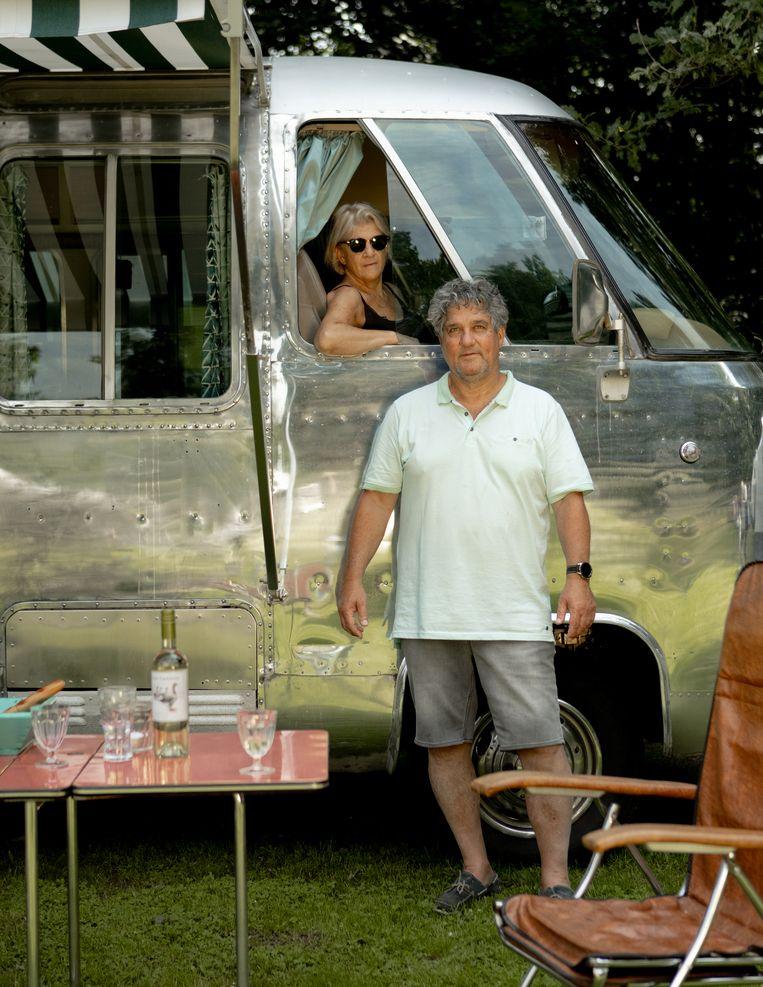 Paul en vrouw op Camping Brockhausen in Stokkum Beeld Desiré van den Berg