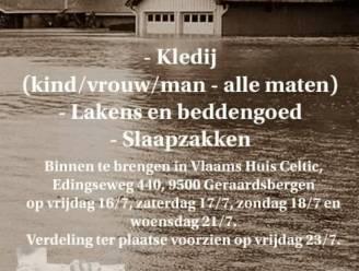 Vlaams Huis Celtic zamelt kledij, beddengoed en slaapzakken in voor Wallonië