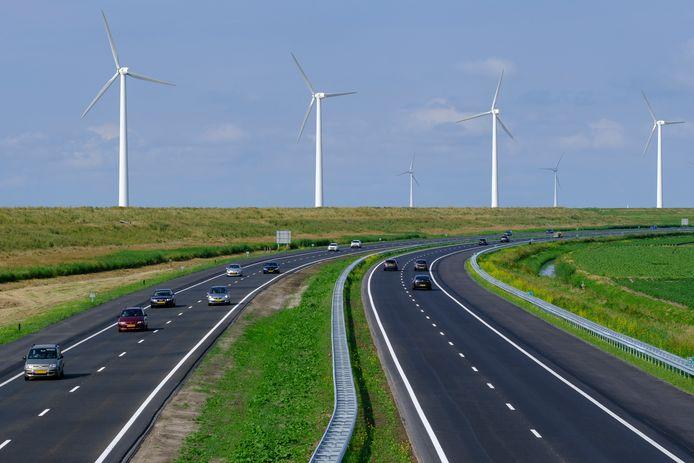 A6 tussen Lelystad-Noord en Urk