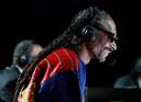 Snoop Dogg  gaf een concert en commentaar bij de partij.